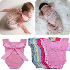 Baby Infant Girl Lace Sheer Romper Dressy Photo Shoot Props Bodysuit Photography