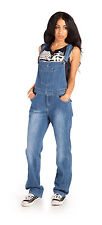 Womens Bib Overalls - Light Wash Denim Bib Overalls Playsuit one piece