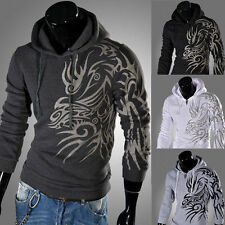 Fashion Mens Pullover Casual Slim Fit Hoodies Hooded Sweater Coat Fleece Tops s