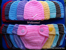 """LOOK! ADORABLE """"HAT & DIAPER COVER BABY SETS"""" - SIZES: PREEMIE, 0-3 MOS, 3-6 MOS"""