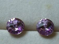 Swar Crystal Earrings Studs Large Studs 8mm 18K GP Pierced