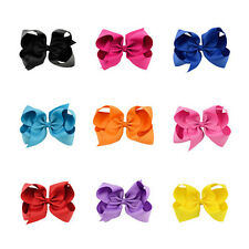 Bow Big Bows BoutIque Hair Clip 1Pcs Alligator Clips Baby Grosgrain Ribbon Girl