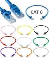 1.5ft Cat6 RJ45 UTP Patch Cable Cord Ethernet LAN Network Router Internet 24AWG