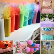 "6"" wide x 25 yard Tutu Tulle Roll Soft Netting Craft Fabric Wedding Party Supply"