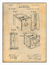 1897 Kodak Brownell Camera Patent Print Art Drawing Poster 18X24