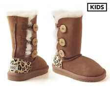 OZWEAR Connection Ugg Kids 3-Button Boots - Chestnut