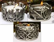 LOVELY SCOTTISH DESIGN TEA LIGHT CANDLE HOLDERS THISTLE/MACKINTOSH/CELTIC.