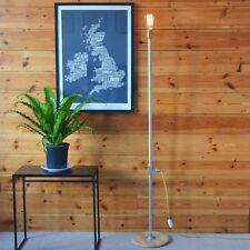 Industrial Vintage Style Standard Lamp + Cassette Lampshade & LED Filament Lamp