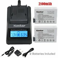 LPE8 Battery & Fast Charger for Canon EOS 550  600D 700D, Rebel T2i T3i X4i X5i