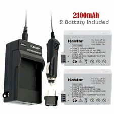 Kastar LPE8 Battery & Charger for Canon EOS 550D 600D 700D Rebel T2i T3i T4i T5i