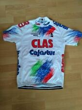 CLAS CAJASTUR Team Cycling Jersey Retro Road Pro Clothing MTB Short Sleeve Bike