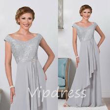 Mother Of The Bride Dresses Lace Appliques Evening Formal Gowns Floor Length New