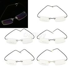 Unisex Flexible Rimless Myopia Glasses Eyeglasses Spectacle Eyewear Metal Frame