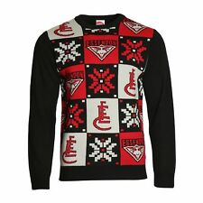 Essendon Bombers AFL Football Mens Footy Ugly Sweater Top BNWT