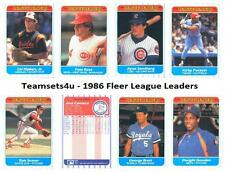 1986 Fleer League Leaders Baseball Set ** Pick Your Team **