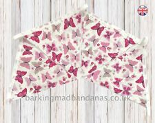 Children's Bedroom Bunting Pink Party Bunting Marquee fabric Wedding vintage