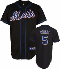 David Wright Majestic Alternate Black Replica #5 New York Mets Jersey Big Sizes