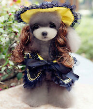 Pet/Dog/Cat Party/Wedding/Formal Dress/Costume/Outfit/Clothes/Cape and Hat-Black