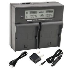 BP-511 Battery&Dual Fast Charger for Canon ZR10 ZR20 ZR25 ZR25MC ZR30 ZR40  ZR80