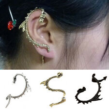 Women's Vintange Gothic Punk Dragon Ear Cuff Stud Earring Jewelry Charms Trendy