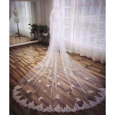 New Style White Ivory 2 Layer 3M Lace Long Cathedral Chapel Wedding Bridal Veil