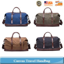 Father's Day Canvas Leather Men Travel Bags Luggage Bags Duffel Bags Travel Tote