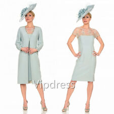 Long Sleeve Mother Of The Bride Dresses Fomal Evening Gowns Lace Applique Beaded