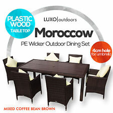 NEW WICKER SETTING Outdoor Furniture Dining Table Chairs Set for BBQ Pool Patio