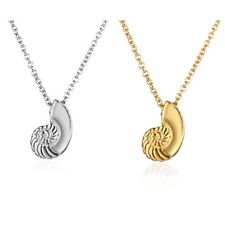Fashion Women Lady Silver/Gold plated Snail Conch Chain Pendant Necklace Jewelry