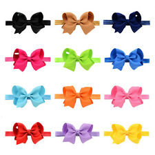 Baby Bow Soft knot Hair Accessories Hairband 1Pcs Elastic Band Headband Flower