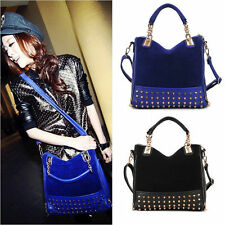 Women's Messenger Hobo Handbag Shoulder Bag Tote Purse Satchel Rivet Retro 06a