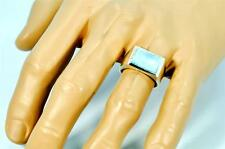 RARE NATURAL LARIMAR SOLID 925 STERLING SILVER MENS RING #0215