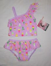 NWT Infant Baby Girls JOE BOXER Purple Tankini Bathing Swim Suit -size 18 months