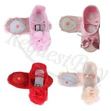 Kids Girls Toddler Canvas Ballet Dance Shoes Child Fitness Gymnastics Slippers