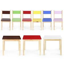 iKayaa Children Square Wooden Table OR Chairs Kids Playing Activity sturdy O4S2