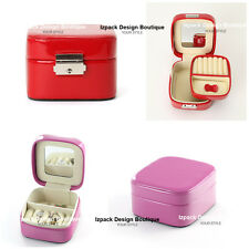 Multi Color Patent leather Double layer Jewelry box Jewellery Storage Box Case O