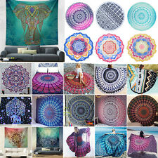 Indian Bohemia Hippie Hanging Tapestry Outdoor Round Blanket Mandala Bedspreads