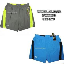 UNDER ARMOUR NEW MENS RUNNING SHORTS FITTED STYLE NWT BLUE GRAY SIZE XXL