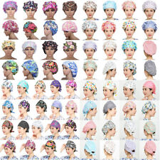 Fowers Pattern Printing Scrub Cap Bouffant Medical Surgical Surgery Hat/Cap NEW