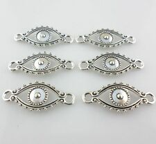 30/250pcs DIY Jewelry Making Tibetan Silver Evil Eye Connectors Pendant 30x12mm