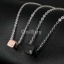 Couples Pendant Necklace Forever Engraved Wedding 316L Stainless Steel Jewelry