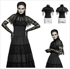 Punk Rave T-448 Womens Gothic Victorian Steampunk Visual Kei Lace Cape Top