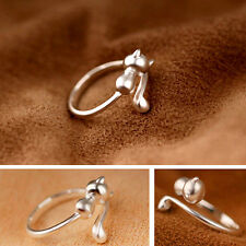 Sweet Animal Cat Open Finger Ring Jewelry Charm Women Party Prom Gift Optimal