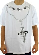 Mafioso Men's Confession 2 T Shirt White   Gangsta Urban Wear Guns Clothing Appa