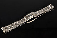 20mm Two Tone Silver Watch Band Strap Solid Curve End New Style Oyster Bracelet