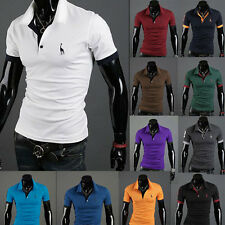 Men's Stylish Casual Slim Fit Short Sleeve Polo Shirt T-shirts Tee Shirt Top
