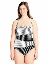 Anne Cole Women's Plus-SZ Spliced Bandeau One-Piece Swimsuit - Choose SZ/Color