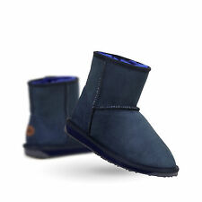 EMU Australia Womens Stinger Mini Winter Real Sheepskin Boots in Indigo