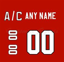 Olympic Hockey 2010 Team Canada Red Jersey Customized Number Kits un-stitched