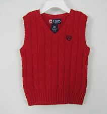 Chaps boys vest cable knit cotton sweater sizes 18M 24M NEW
